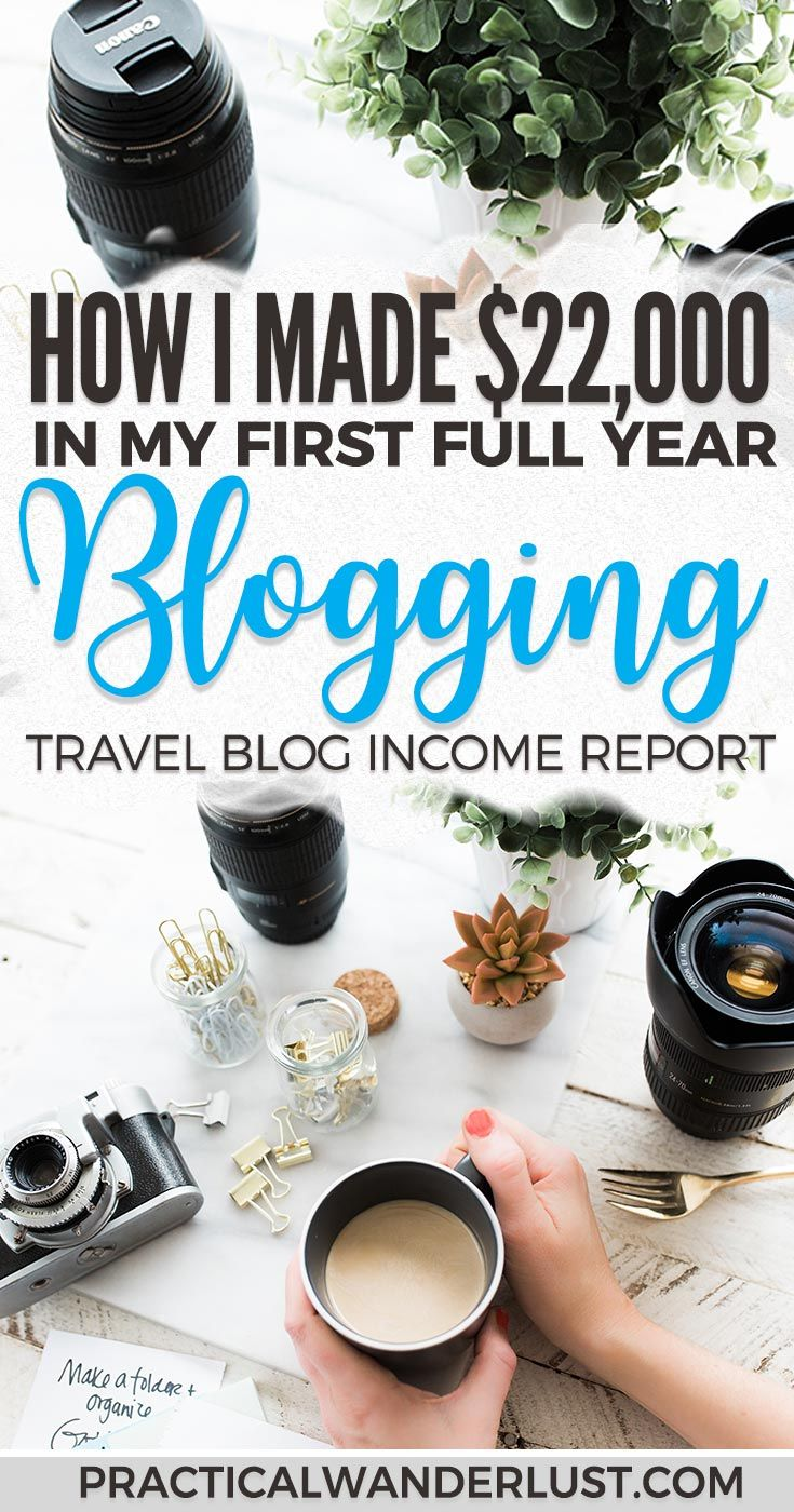 I earned $22,000 in my first full year of travel blogging. Here's how I earned it, and how you can monetize your blog, too! How to monetize your blog | Blogging for money | Travel blogging tips | Blogging income reports | Blogging income tips | Travel blog income report #blogging #travelbloggingtips #bloggingtips via @practicalw