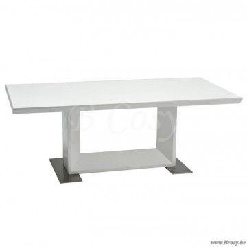"""J-Line Witte salontafel in hout en metaal 120 <span style=""""font-size: 0.01pt;"""">Jline-by-Jolipa-35147</span>"""
