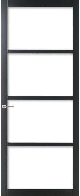 WK6308 C - Industriële binnendeur met een strak, modern, stoer en tijdloos design. Kenmerkend voor deze deur is de verfijnde uitstraling en de slanke profilering. Passend in een modern en strak interieur. De deur zorgt voor veel lichtinval en een ruimtelijk karakter. Ook toepasbaar als dubbele deuren of schuifdeur(en).