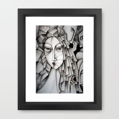 Memoirs Of A Geisha Framed Art Print by SimonaMereuArt - $45.00