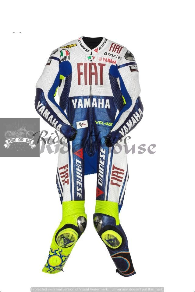 Valentino Rossi FIAT Yamaha Racing Suit Available Now at €550 Sizes Available Customization also available. Delivery time: 10-15 working Days. Free Delivery Worldwide Delivering Safety Worldwide.. Follow our board and contact to buy Email: motorgarments@gma...