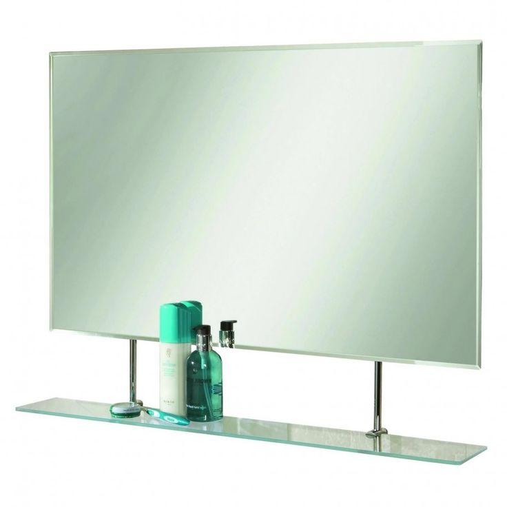 Get Elegance Feels With Bathroom Glass Shelves Luxury