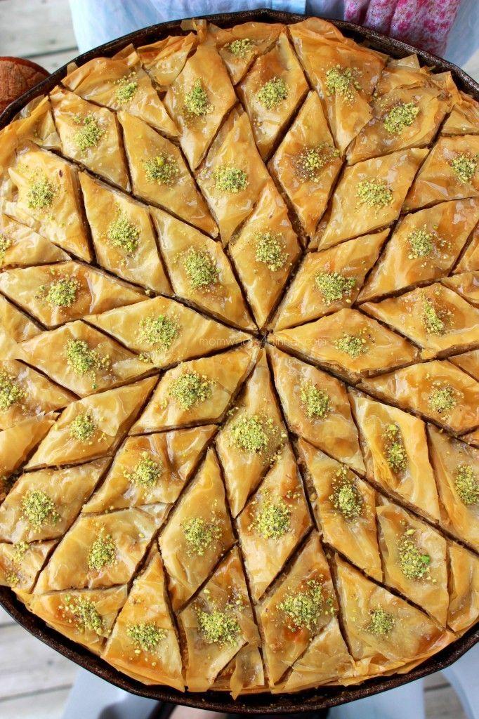 Traditional Diamond Cut Baklava, ,