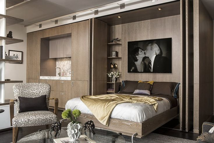 Wesley moon inc portfolio architecture interiors contemporary contemporary  Murphy bed modern bedroom kitchen living room