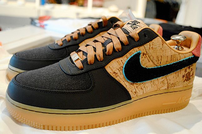 SOLE CLASSICS NIKE AIR FORCE 1 (BESPOKE) To celebrate their store's fifth anniversary the crew at Sole Classics knocked out their very own Nike Bespoke Air Force 1s, with stunning results! There's an awful lot going on here – cork upper, gum sole, soft canvas toes, two-tone cotton candy suede and and wooly letterman swoosh's just for starters. Yet remarkably it all manages to stick. Not for sale, this one-of-one production