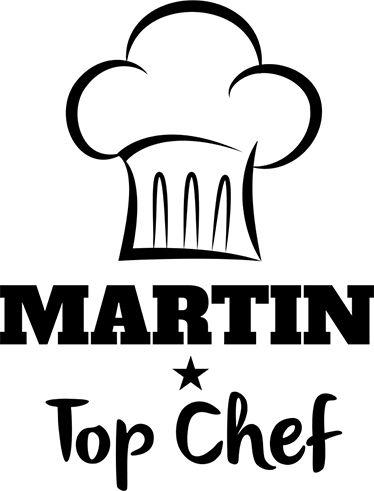 Pegatinas nombre personalizable chef