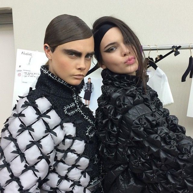 See the best Instagrams from Chanel's Fall 2015 show today: Cara Delevingne and Kendall Jenner