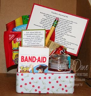 Teacher Survival Kit for Teacher Appreciation Week: Teacher Gifts, Teacher Appreciation, Gift Ideas, Student Teacher, Survival Kits, Teacher Survival Kit, Appreciation Gift, Teachers, Appreciation Idea
