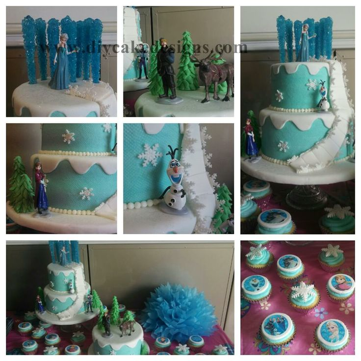 Disney Frozen Birthday Party Cake