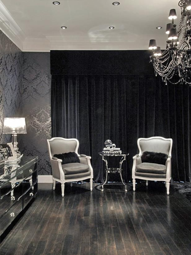 17 best ideas about black curtains on pinterest for Beautiful sitting rooms