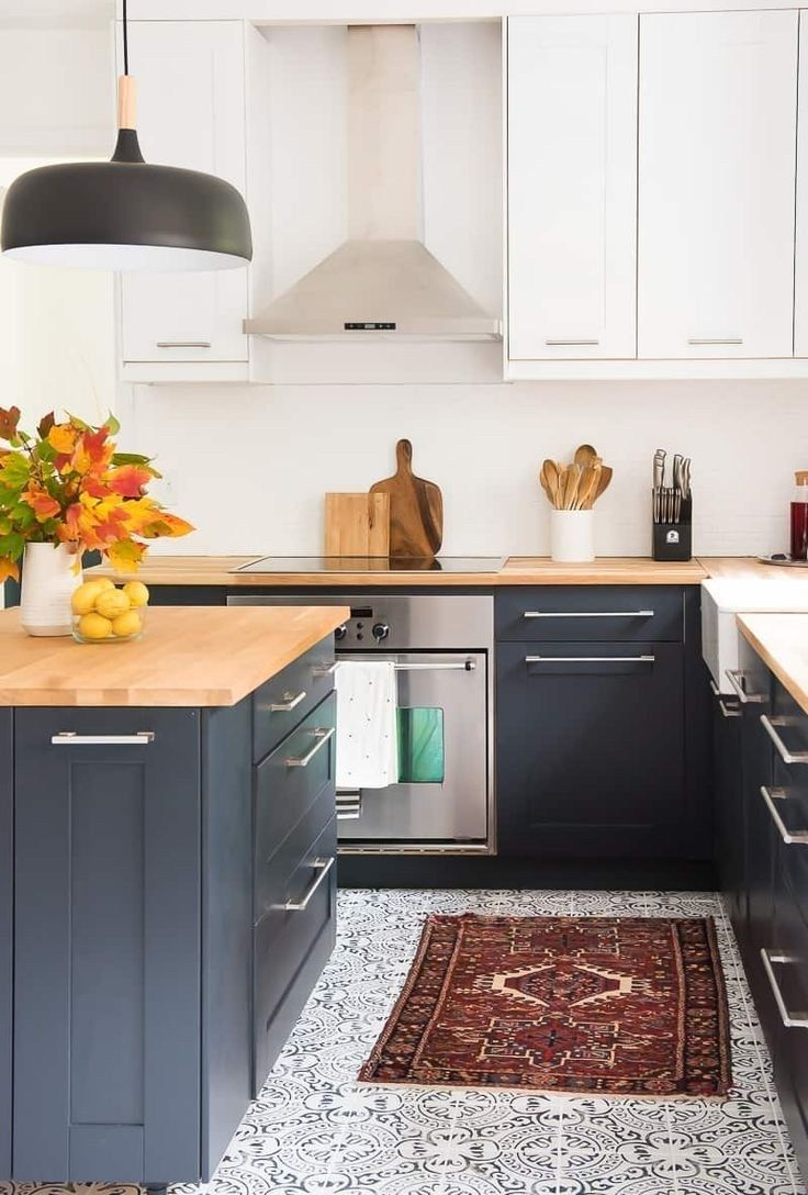 42 Lovely Painted Kitchen Cabinets Two Tone Design Ideas Modern Kitchen Interiors Modern Kitchen Modern Kitchen Design