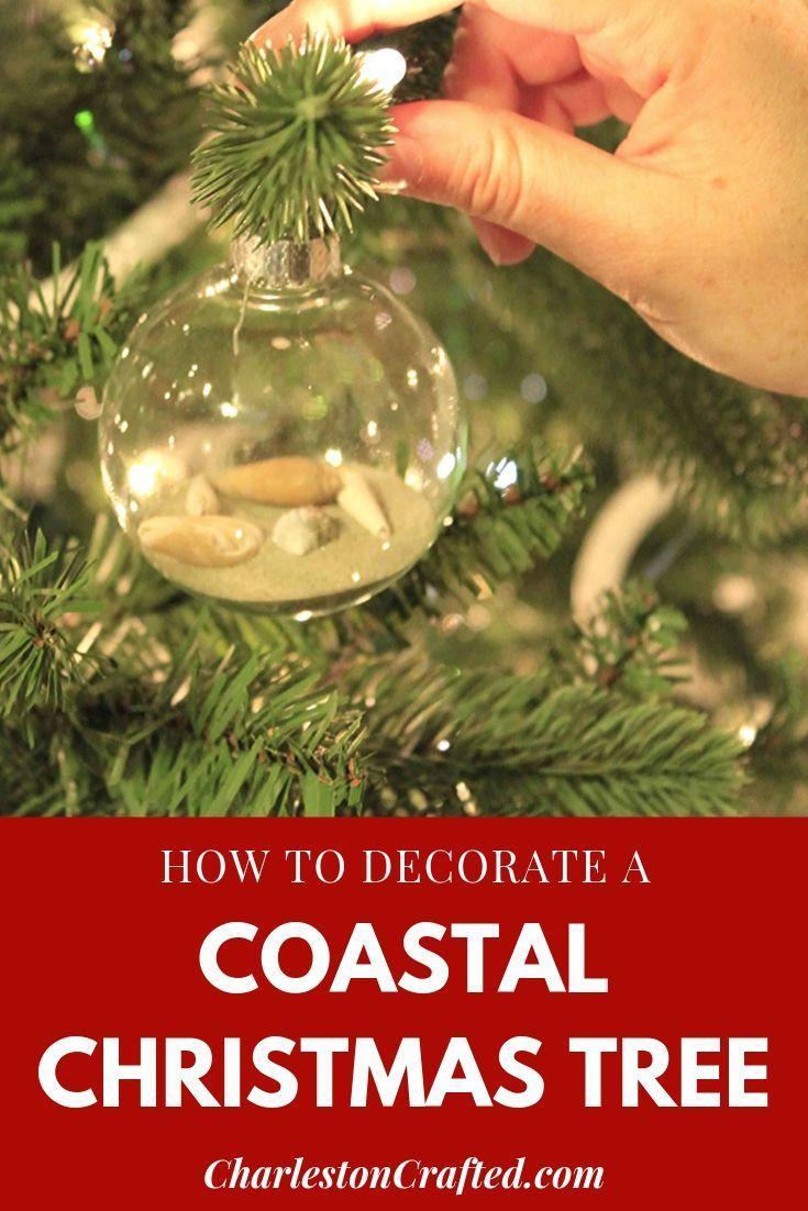 A Coastal Christmas Tree Coastal Christmas Tree Coastal Christmas Purple Christmas Tree