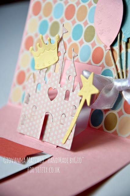#Sizzixplus  HandMade by Gio: Cinderella Card - Sizzix