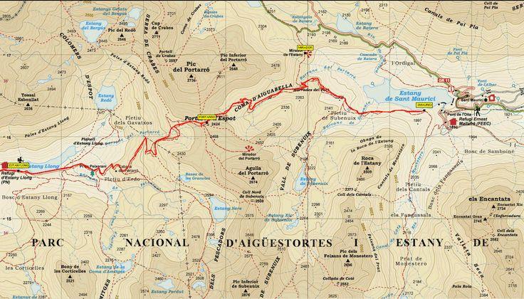 Resultado de imagen de mapa parking lago san mauricio