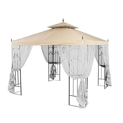 This replacement canopy is custom designed for the Home Depot Arrow Gazebo. This canopy uses Garden Winds's Ultra Stitch and Dura Pocket technologies to enhance performance. REPLACEMENT CANOPY ONLY. MOSQUITO NETTING SET NOT INCLUDED. METAL STRUCTURE NOT INCLUDED. Custom designed for the Home Depot Arrow gazebo model number: 61821, HD-61821, GGHL00019.