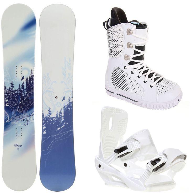 really good deal for the set! a little big though :( M3 Free 155 Womens Snowboard + Sapient Zeta Bindings + Burton Boots #M3