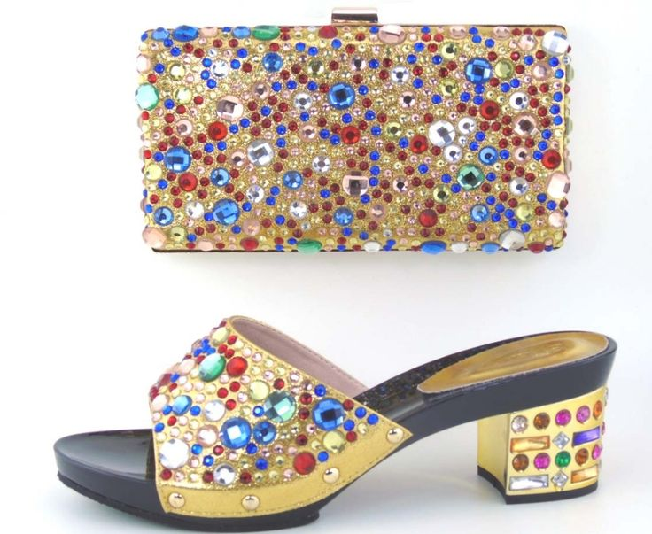 58.88$  Watch now - http://alizji.shopchina.info/go.php?t=32724785165 - Top Quality Italian Ladies Shoes And Matching Bag Set,Latest Pattern African Shoes And Bag With Rhinestones! MOH1-34 58.88$ #shopstyle