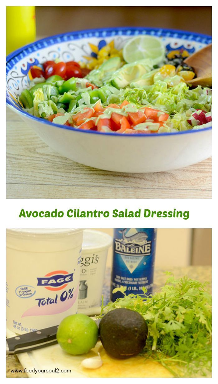 Avocado Cilantro Salad Dressing from Feed Your Soul Too