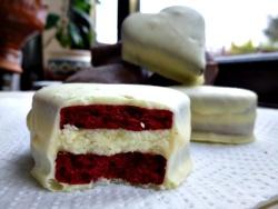 Almond and Honey: Red Velvet Shortbread Sandwich Heart Cookies