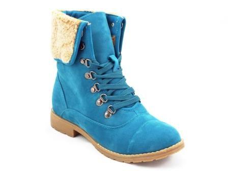 Ghete dama Ryeda albastre tip bocanc  la pretul de 64 RON. Comanda Ghete dama Ryeda albastre tip bocanc  de la Biashoes!