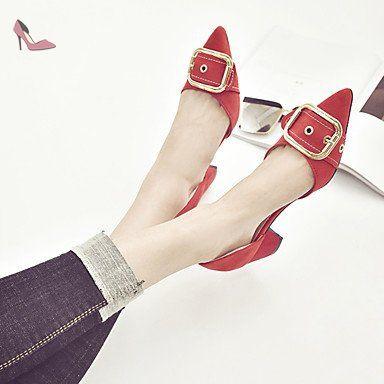 pwne Sandales Femmes Confort D'¨¦t¨¦ En Plein Air De Pu Talon Bloc Marche Noir Rouge Kaki Rouge Us7.5 / Eu38 / Uk5.5 / Cn38 - Chaussures pwne (*Partner-Link)
