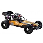 The Yama Buggy is built with many aluminium parts and looks great with oil filled, colour coordinated shocks.  http://www.nitrotek.dk/rc-biler/1-5-benzin-biler.html