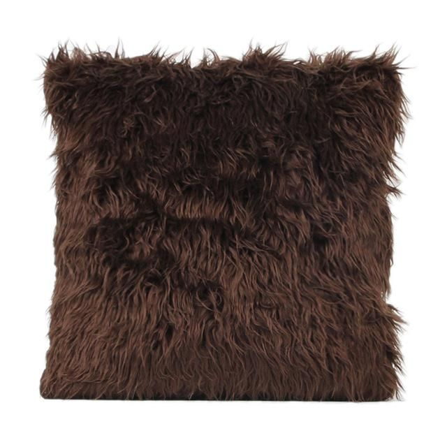 Brown Faux Fur Cushion - Pin for Inspo!