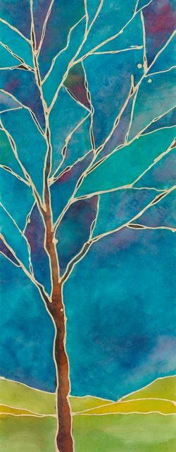 Batik painting by ©Julie Wildman - http://wildmandesigns.blogspot.com/search/label/batik%20cards