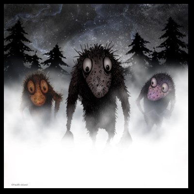 Three Trolls Posters all sizes $15 upwardsPicture-Black Posters, Paul Stickland, Interiors Design, Funny, Three Troll, Stickland Art, Throw Pillows, Monsters Troll, Luxury Pillows