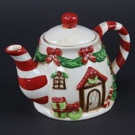 Victorian Christmas Teapot