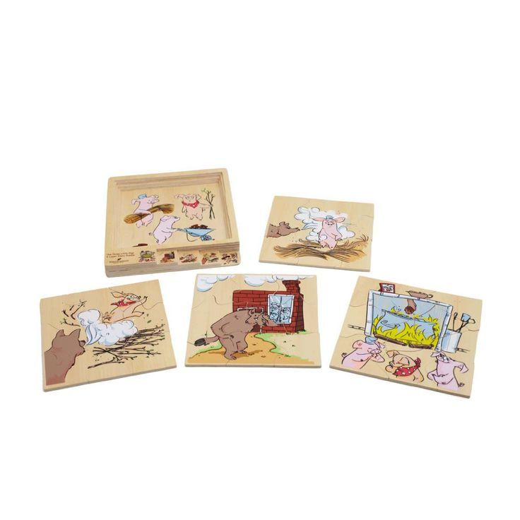#Discoveroo 4 Layered #Story #Puzzle - 3 Little #Pigs