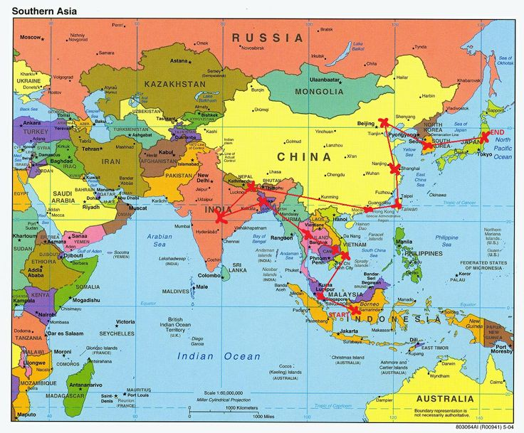 item name southern asia map description a map including korea in relation to china and japan