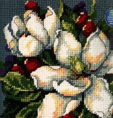 Dimensions #needlepoint #Magnolias ♥ #flowers #spring #mothersday #gift #decor #DIY #crafts #needlework #stitching #handmade