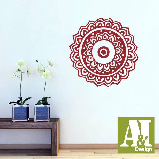 Wall Stickers – *Mandala hindu Wall Decal* – a unique product by A8Idesign on DaWanda
