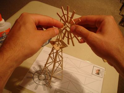 Toothpick Windmill , How to make a toothpick windmill