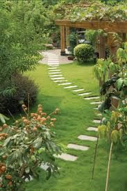 Meandering path to patio