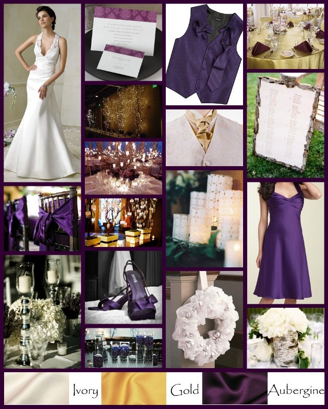Ivory And Gold Wedding Decorations: Our Colors: Purple, Ivory, & Gold