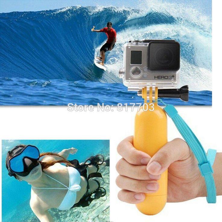 Yellow Water Floating Hand Grip Handle Mount Float Accessory For Gopro Hero 4/3+/3/2/1 For Gopro Sj4000 Sj5000 Sj6000 Sj7000 New