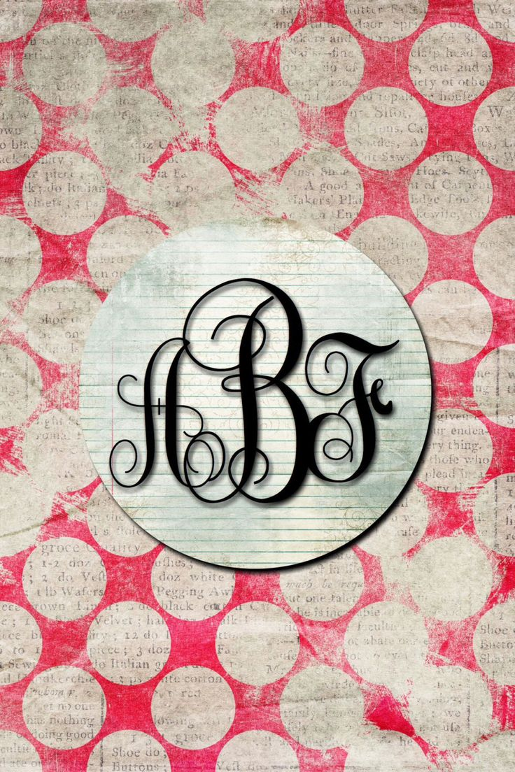 Monogrammed Wallpaper for Phone https://www.etsy.com/listing/258576436/customized-and-monogrammed-wallpaper-for