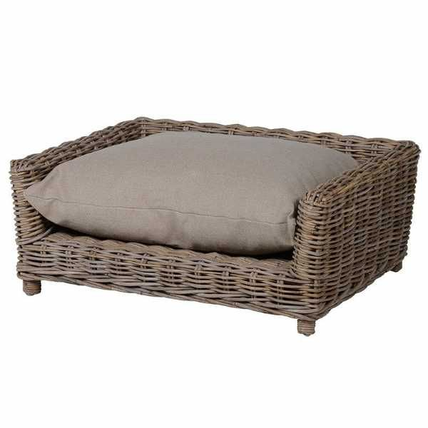 Kuba Large Wicker Dog Basket Traditional Style Hard Wearing Dog Bed Wicker Dog Bed Basket Dog Bed Dog Bed