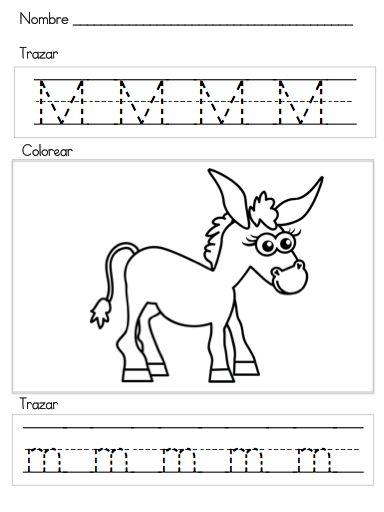 Letra M Silabas ma, me, mi, mo, mu | Education: Trace / Trazos ...