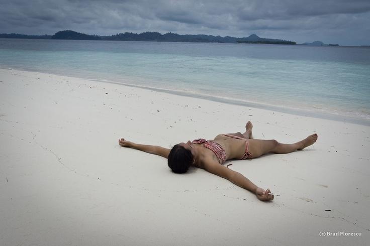Deserted island, deserted beach, deserted mind in Pulau Banyak, Aceh.