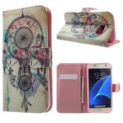 Drömfångaren, fodral till Galaxy S7, vit/rosa