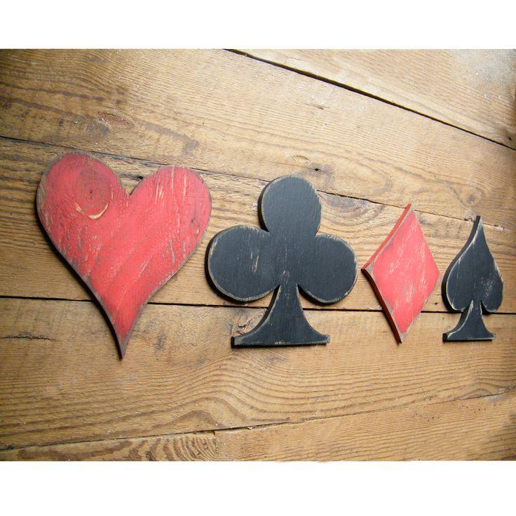 Card Symbols Sign Game Room Signs Heart Club Diamond Spade. $56.00, via Etsy.