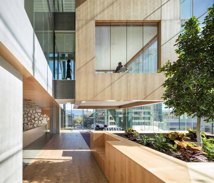 What is it? Telus Garden  / Office Of Mcfarlane Biggar Architects + Designers Inc.  We love use of wood panelling and the indoor garden.