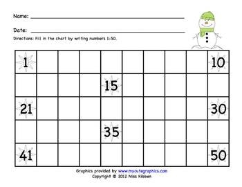 ... / Christmas Break Homework Packet | Number Chart, Charts and Numbers