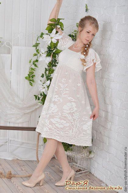 """Платья ручной работы. Ярмарка Мастеров - ручная работа. Купить """"Леля"""" вязаное  платье в деревенском стиле. Handmade. Платье"""