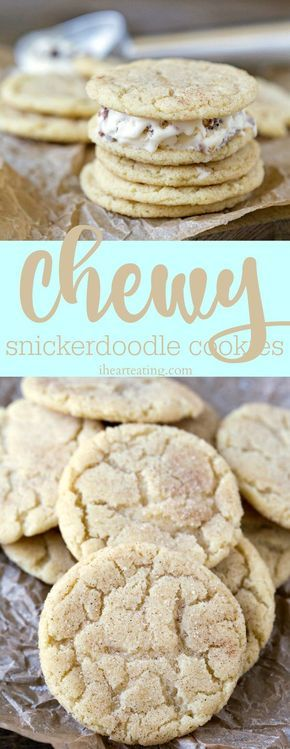 Chewy Snickerdoodle Cookie Recipe - these cookies are great by themselves, and they also make great ice cream sandwiches!
