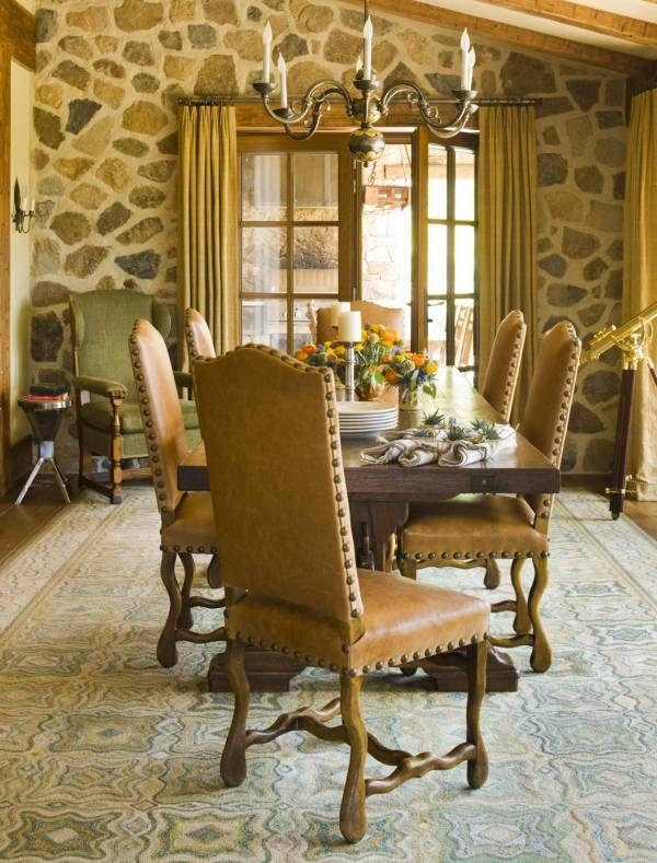 Colorado Mountain Ranch Rustic ItalianItalian StyleColorado MountainsFormal Dining RoomsElegant