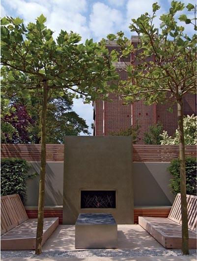 Luciano Giubbilei garden in Notting Hill